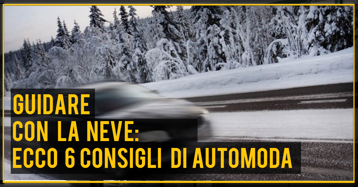 guidare con la neve